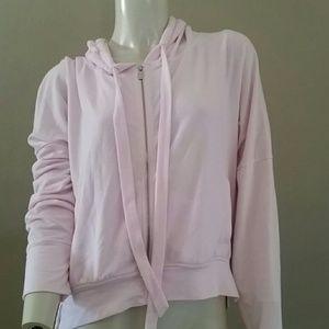 Victoria's Secret pink slouchy hoodie full zip L